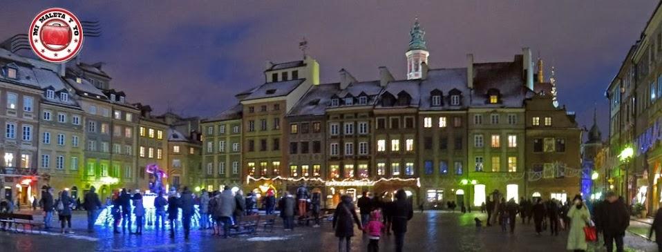 Varsovia en Navidad. Iluminación del centro