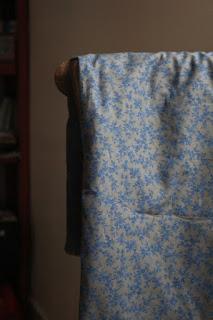Tissu taupe et bleu