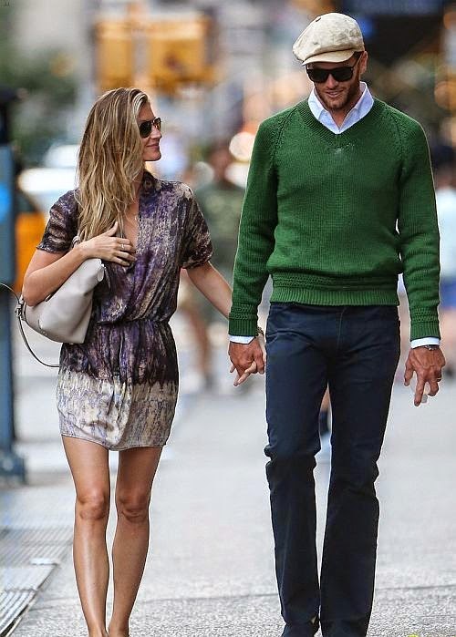 The 33-year-old did get her back on the street of New York City on Sunday, June 29, 2014 with her husband, Tom Brady.