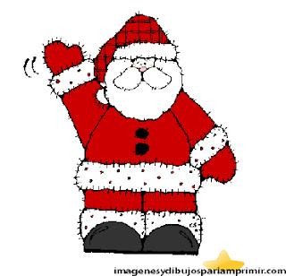 dibujo de Santa claus para niños