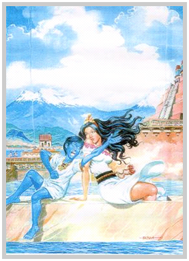 Huitzilopochtli y su Madre Coatlicue