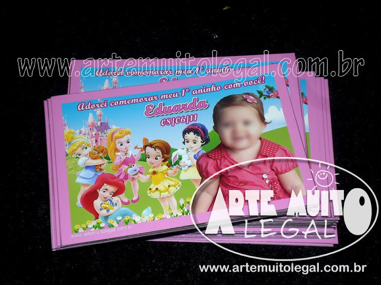 Convites de aniversário infantil e lembrancinhas de aniversário - Arte muito legal