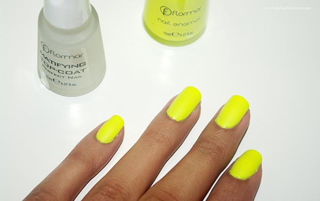 Flormar Matte Neon Yellow Nail Polish