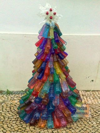 Christmas tree with waste plastic bottles | Recycle waste water bottles for Christmas decoration