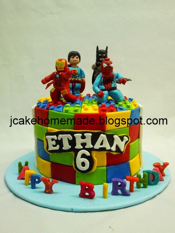 Jcakehomemade Lego Superhero Birthday Cake