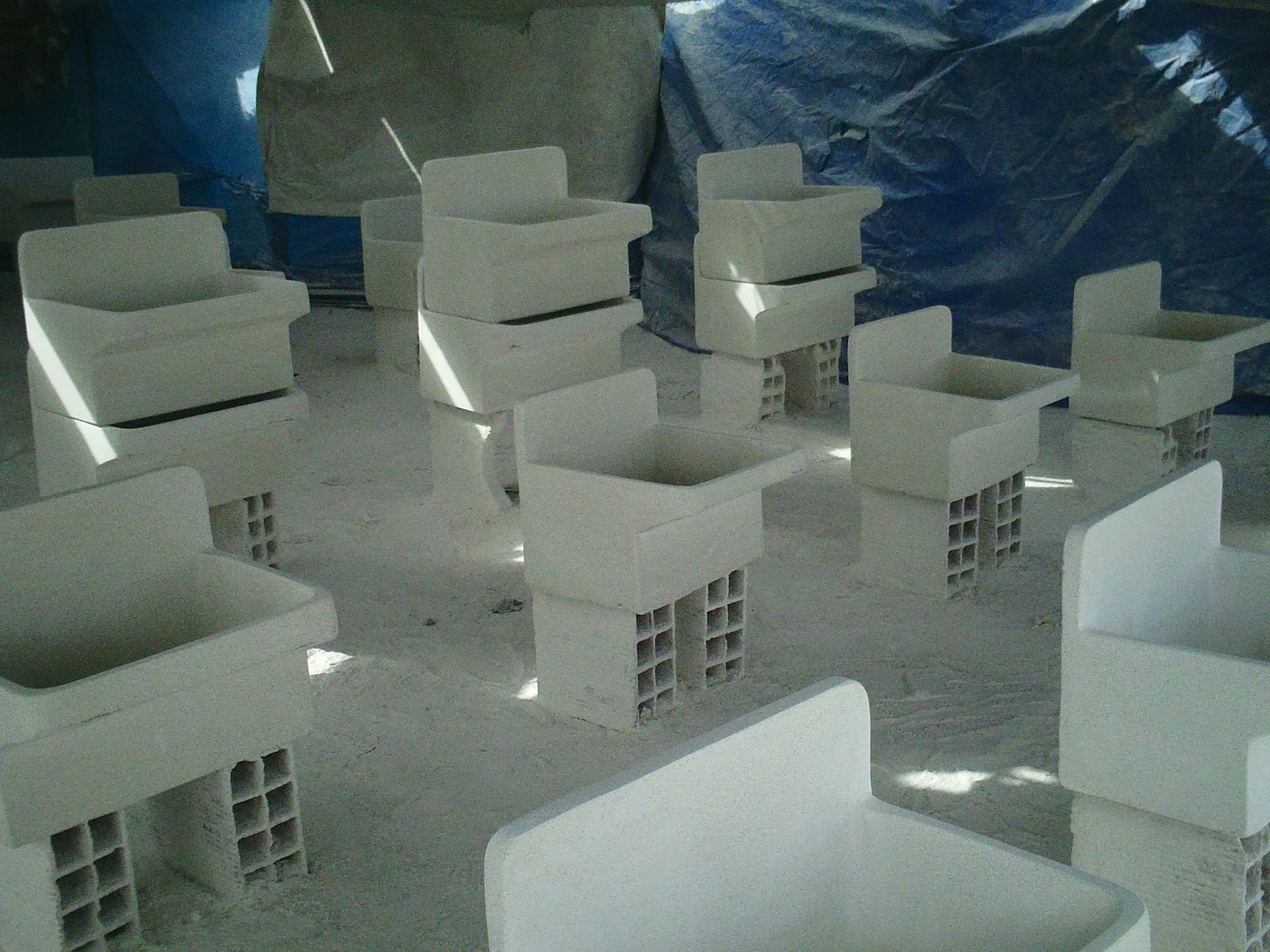 Lavaderos de granito for Modelos de lavaderos