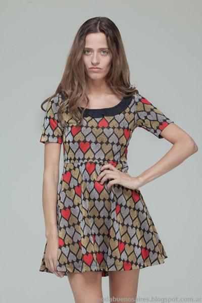 Moda otoño invierno 2013 Basilotta vestidos