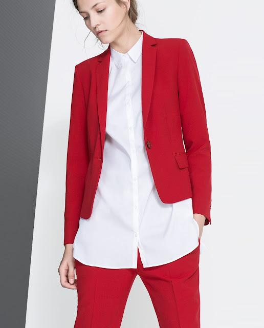 red jacket zara