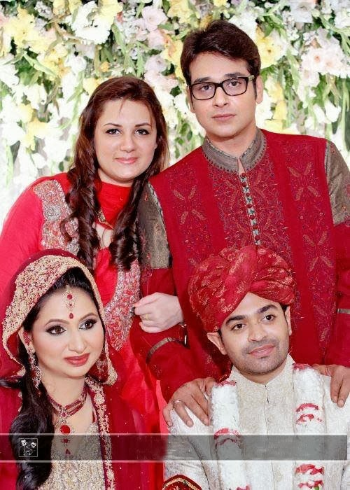 Two Couples - Mr. And Mrs. Faysal Qureshi with Mr. And Mrs. Naveed Raza