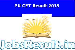 PU CET Result 2015