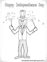 july 4th coloring pages free printable