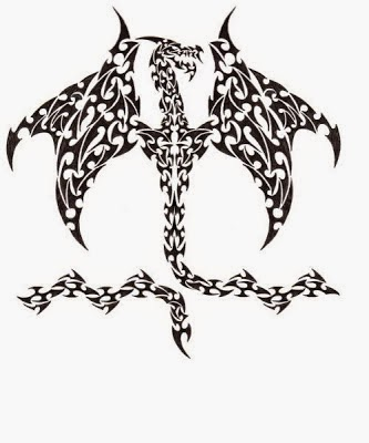 Tribal Dragon Tattoo Designs 01