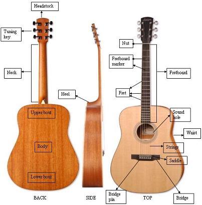 susunan dan bagian gitar