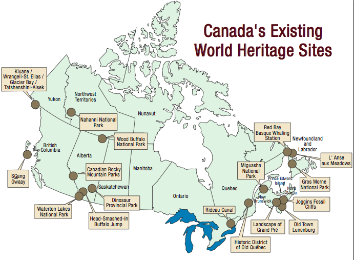 Postal history corner unesco world heritage sites of canada 2014 cpc selected the following world heritage sites for philatelic commemoration gumiabroncs Images