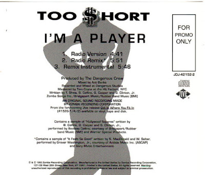 Too $hort – I'm A Player (Promo CDS) (1993) (320 kbps)