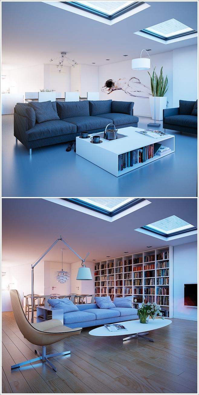 Deco chambre interieur illuminez votre salon avec une lucarne au plafond - Hotel avec miroir au plafond ...