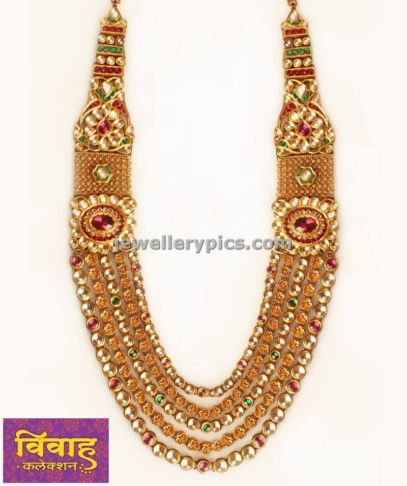 Gold and Kundan Raani Haar vivah collection by PNG jewellers ...