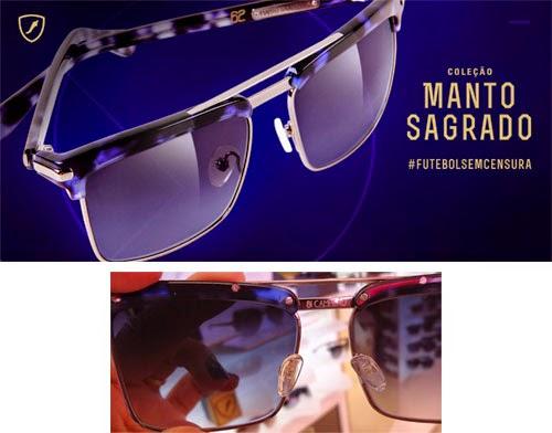 coleção óculos de sol Manto Sagrado futebol sem censura Copa do Mundo comprar
