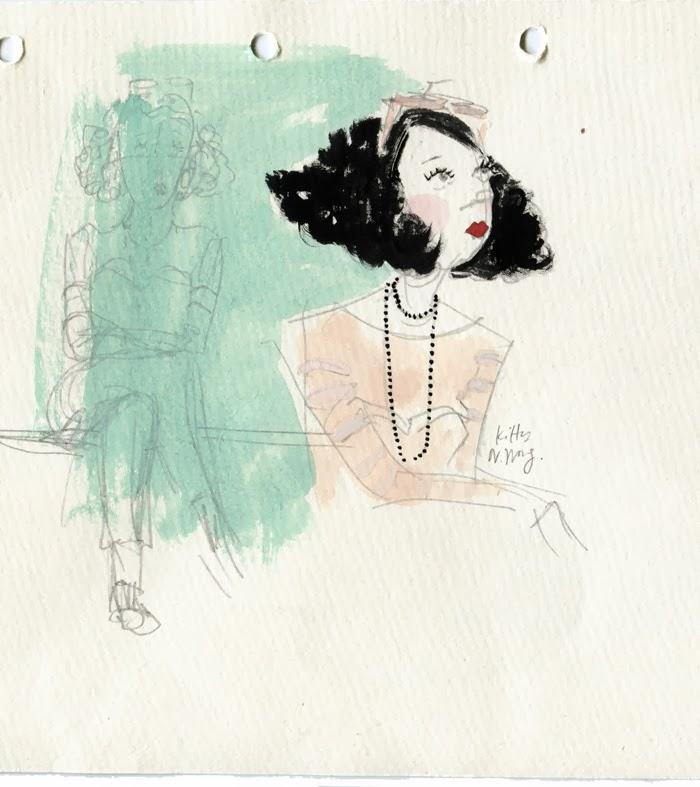 Kitty N. Wong / Orsola de Castro Streetstyle Sketch