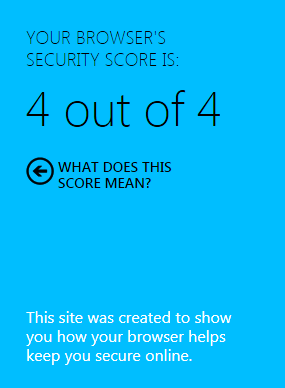 browser security report Learn about pop-up blocker, protected mode, security zones, and other customizable security and privacy settings in internet explorer.