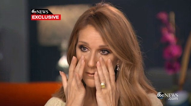 celine dion crying
