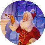 HAED: Santa and The Mouse Ornament (freebie)