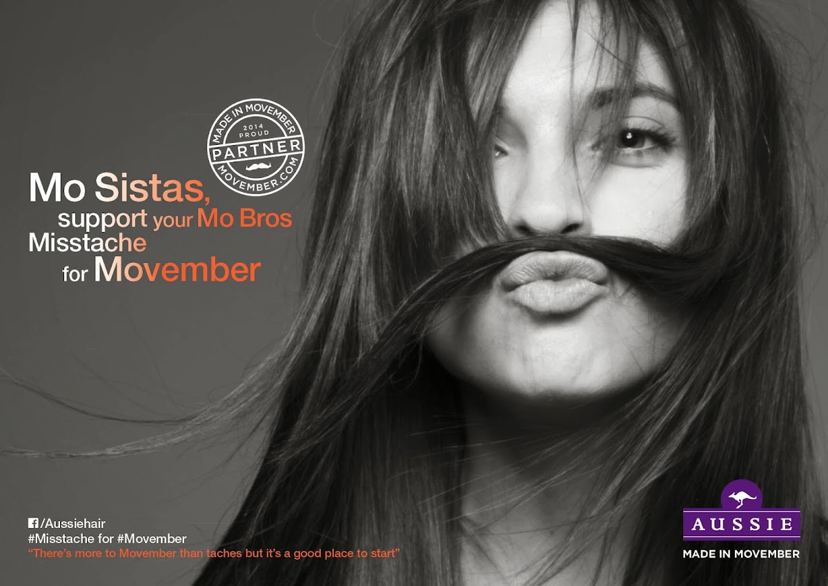 Aussie Gets Women to show off their Movember Misstaches