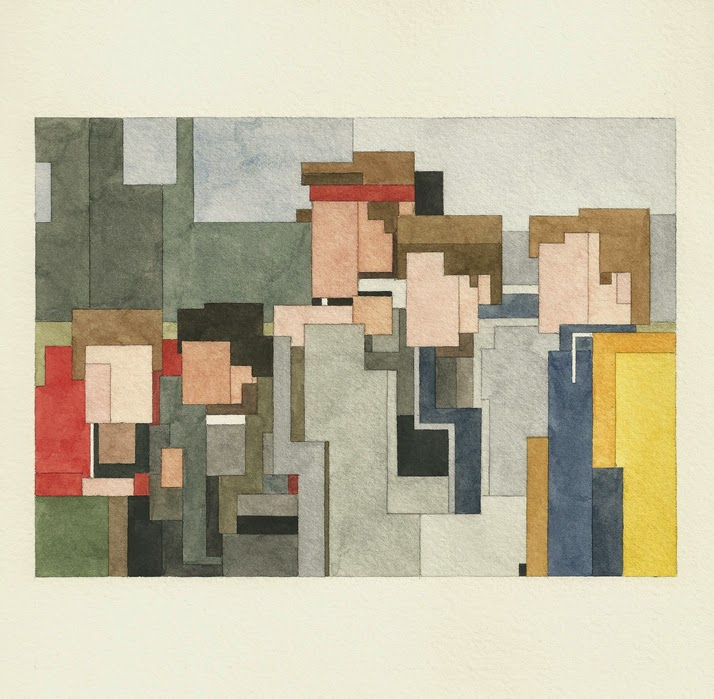 Adam Lister, acuarelas 8 bits, Los Goonies
