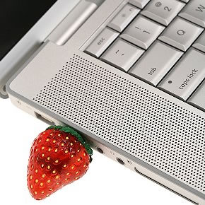 creative strawberry usb pen drive