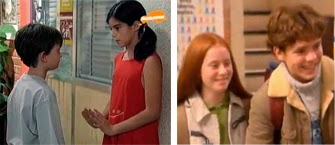 DESIRÉE (Clara Lago) y LOLO (Daniel Retuerta), NADIA (Amanda García) y JIMMY (Álvaro Monje).