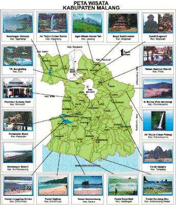 Peta Wisata di Kabupaten Malang