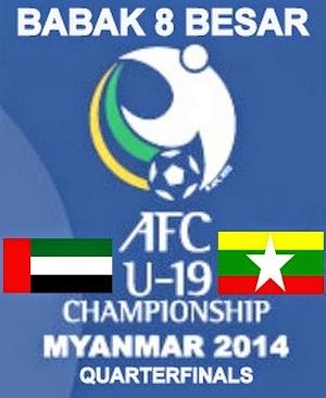 Hasil Pertandingan UAE Vs Myanmar, Babak 8 Besar Piala Asia U-19 2014