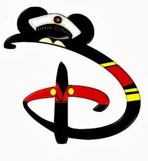 Alfabeto de personajes Disney con letras grandes D Mickey.