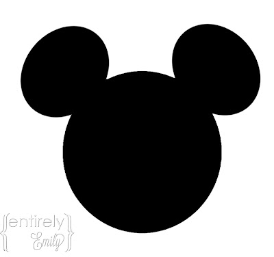 mickey mouse head shape template entirely emily mickey mouse party with printables