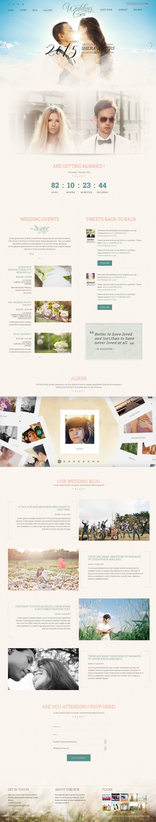 Free WordPress Wedding Website Theme