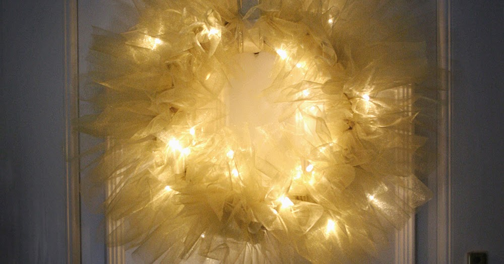 Tulle String Lights Diy : DIY Tulle and Light Wreath Christmas Lights Shop Blog