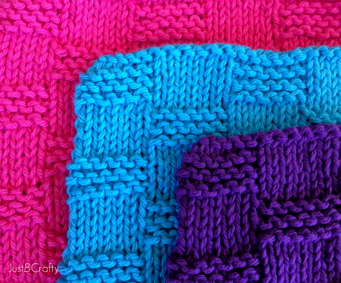 Letter Knitting Patterns : Basket Weave Dishcloth Pattern