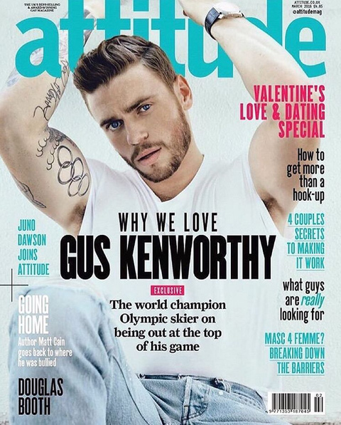Out Olympic skier Gus Kenworthy on the cover of Attitude Magazine