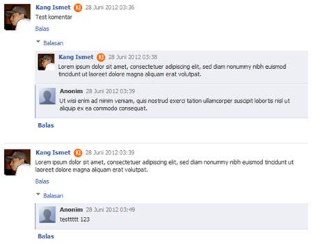 komentar blogger seperti facebook