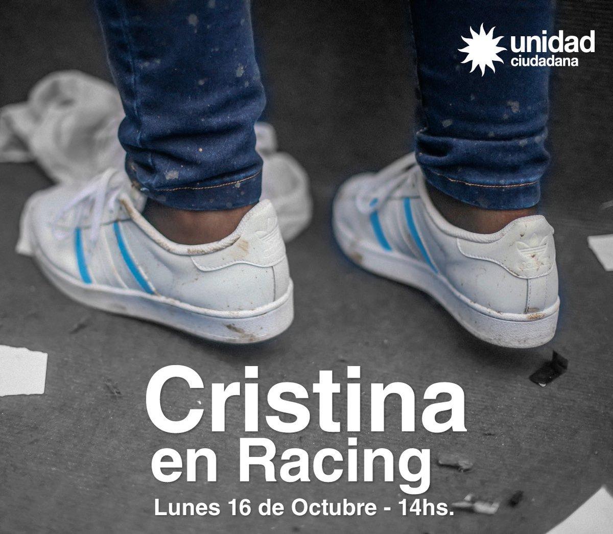Cristina en Racing 16/10/2017 - 14 hs.