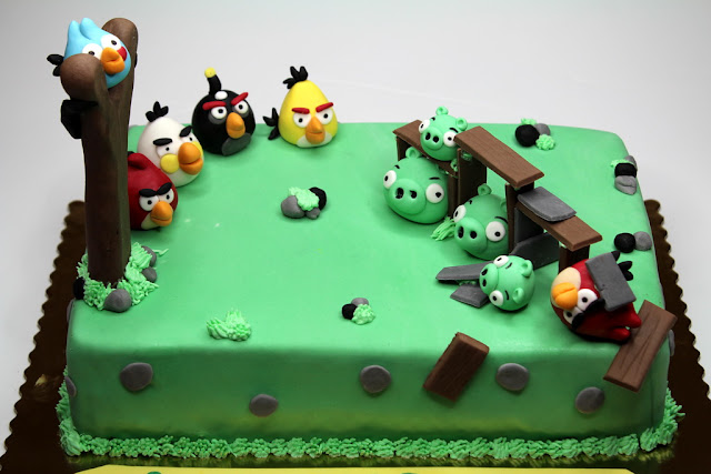 Angry Birds Children Cake - Kensington London