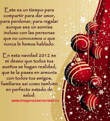Tarjeta de navidad 2012 con mensaje
