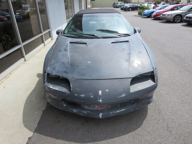 1994 Chevy Camaro Convertible about to be painted at Almost Everything Auto Body