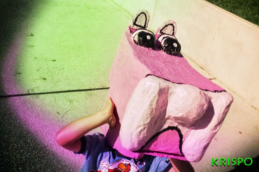 cabezudo de pantera rosa para niño