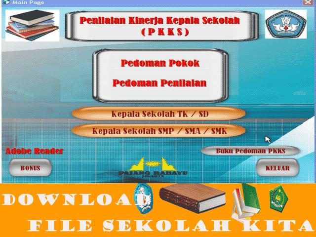 Aplikasi Penilain Kepala Sekolag TK|SD|SMP|SMA|SMK Lengkap