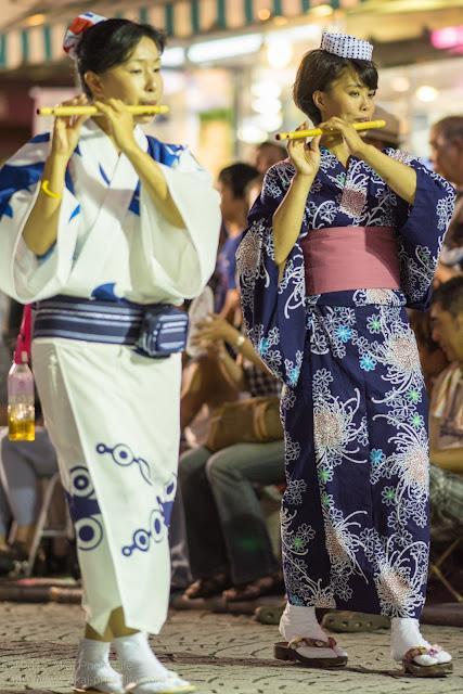 三鷹阿波踊り 南粋連の笛の鳴り物