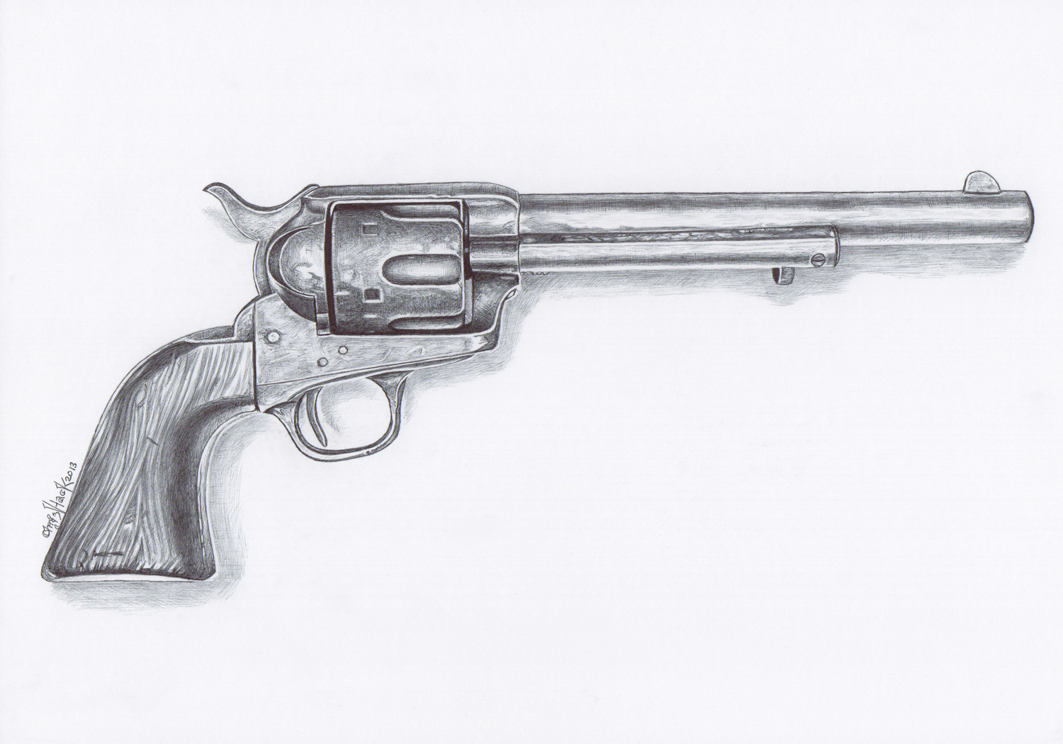 Gun Pencil Drawings Gun Pencil Drawing