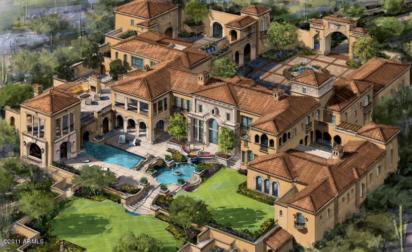 Mansions more incredible arizona mansion to be built in for Luxury mansion plans