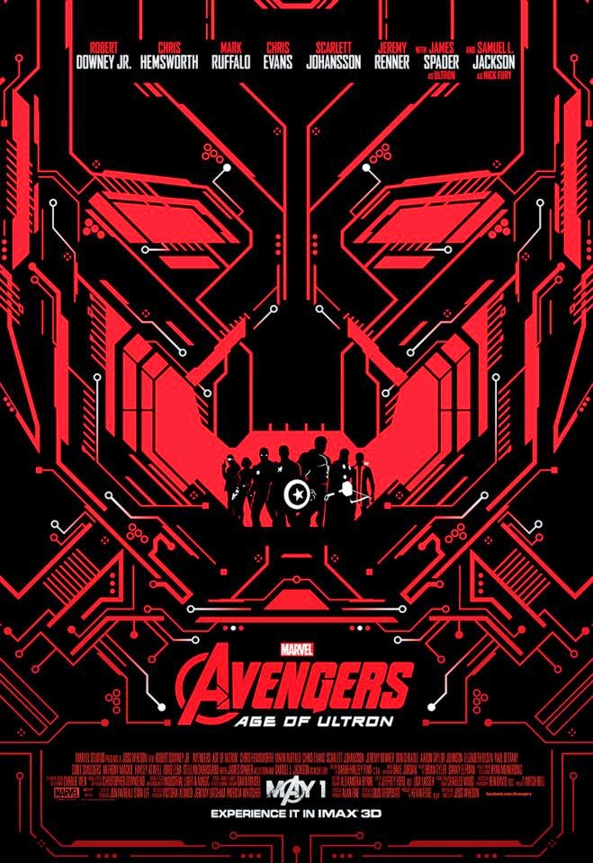 Marvel's Avengers Age of Ultron IMAX Theatrical One Sheet Movie Poster