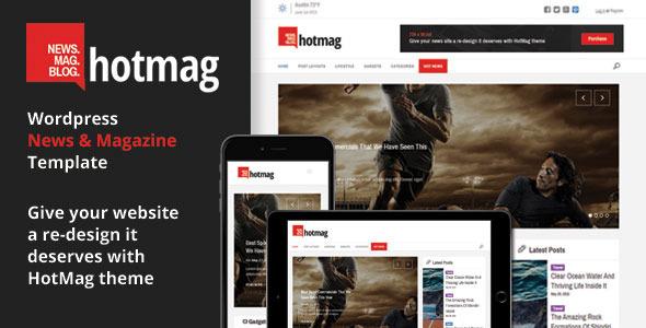 download HotMag - Wordpress News, Magazine Responsive Theme